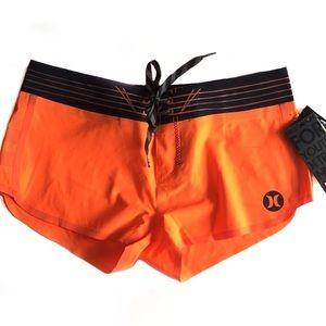 {Hurley} Bright Orange Phantom Board Shorts Sz 1